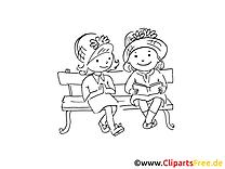 Copines images à imprimer – Maternelle clipart gratuit