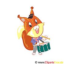 Écureuil clip art gratuit - Maternelle dessin