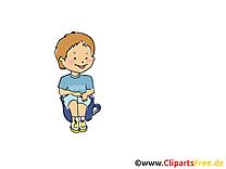 Faire pipi dessin - Maternelle clip arts gratuits