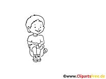 Faire pipi dessin à colorier - Maternelle clip arts