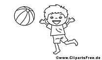 Jouer au ballon coloriage - Maternelle cliparts Kopie