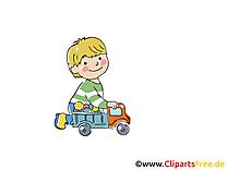Jouer aux voiture - Maternelle cliparts à télécharger
