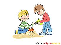 Jouer dans le sable images – Maternelle clipart