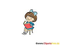 Lire clip art gratuit - Maternelle dessin