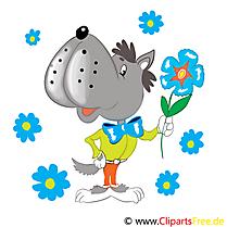 Loup maternelle image à télécharger gratuite