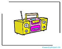 Magnétophone dessin - Musique cliparts à télécharger