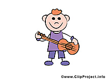 Musicien image gratuite – Bonhomme clipart