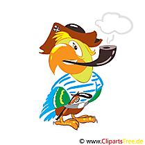 Perroquet dessin - Maternelle cliparts à télécharger