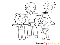 Réveil dessin à colorier - Maternelle clip arts
