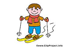 Ski dessins gratuits – Bonhomme clipart