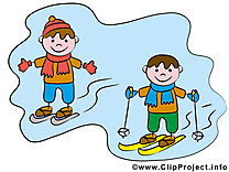 Ski illustration – Bonhomme images