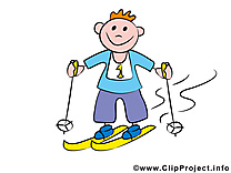 Ski image gratuite – Bonhomme illustration