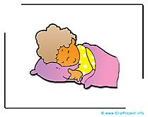 Sommeil illustration - Maternelle clipart