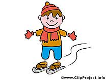 Sport d'hiver clipart – Bonhomme dessins