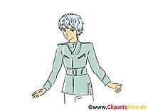 Anime dessin gratuit - Homme clip arts gratuits