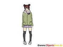 Anime image gratuite - Femme cliparts