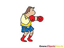 Boxeur clip art – Entraînement  images gratuites