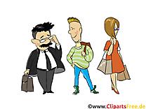 Gens arrêt dessin - Personnes cliparts à télécharger
