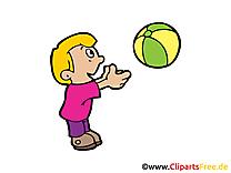 Joue au ballon image gratuite - Enfant cliparts