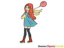 Manga clipart gratuit - Fille dessins gratuits