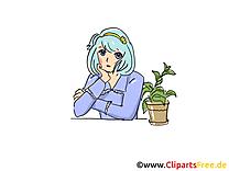 Plante images gratuites – Femme clipart gratuit