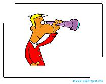 Regarder illustration - Homme clipart