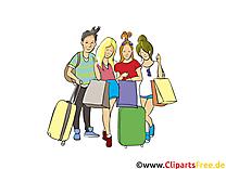 Shopping dessins gratuits - Gens clipart gratuit
