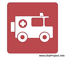 Ambulance clip art gratuit - Pictogramme  dessin