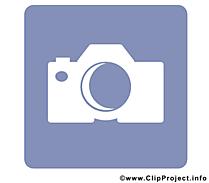 Appareil photo clip art - Pictogramme illustration