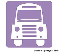 Bus clip arts gratuits - Pictogramme illustrations