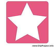 Étoile clip art gratuit - Pictogramme dessin