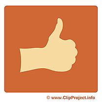 OK clip arts gratuits - Pictogramme illustrations