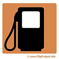 Station d'essence clip arts - Pictogramme illustrations
