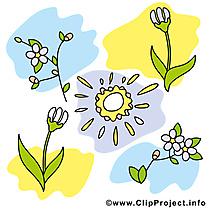 Dessin gratuit printemps à télécharger