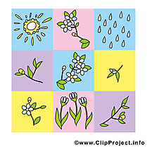 Illustration gratuite printemps  clipart