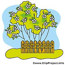 Jardin dessin à télécharger - Printemps images