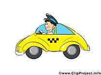 Chauffeur de taxi clipart gratuit - Métier dessins gratuits