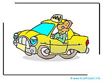 Chauffeur de taxi dessin - Métier cliparts