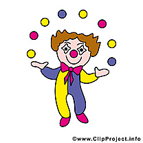 Clown image gratuite - Profession illustration