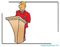 Conférencier cliparts- Conférence images
