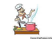 Cuisinier métier dessin à télécharger - images