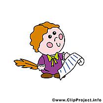 Écrivain illustration - Profession clipart