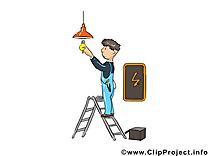 Électricien illustration gratuite - Métier clipart