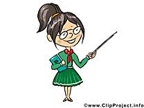 Enseignante clipart - Métier dessins gratuits