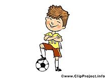 Footballeur clip art gratuit - Profession dessin