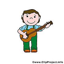 Guitariste dessin à télécharger - Métier images