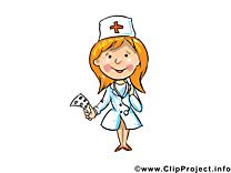 Infirmière clip arts gratuits - Métier illustrations
