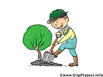 Jardinier clipart gratuit - Profession images