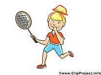 Joueuse de tennis  illustration à télécharger gratuite