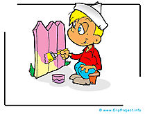 Peintre illustration gratuite - Profession clipart